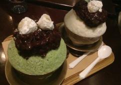 Green tea red bean bingsu (녹차팥빙수 & 팥빙수)